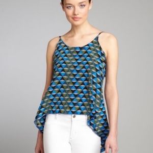 NWT Winter Kate High-Low Trapeze Silk Top  L
